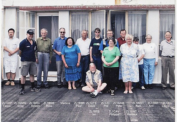 Suburban Amateur Radio Club members photograph