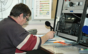 Rick ZL1WOT at the Icom IC-7700 amateur radio station