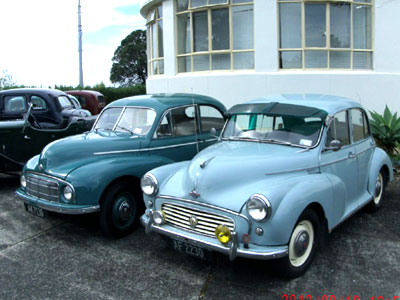Members of the Morris Car Club visited Musick Memorial Radio Station on August 19, 2012.