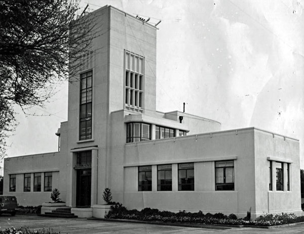 Musick Memorial Radio Station as seen from the south east in September 1959.