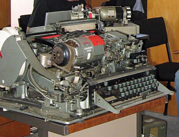 Creed 54 teleprinter, a marvel of mechanical engineering