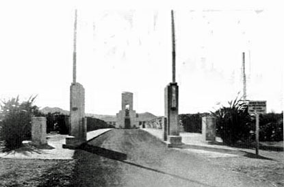 The driveway leading to Musick Memorial Radio Station, 1944