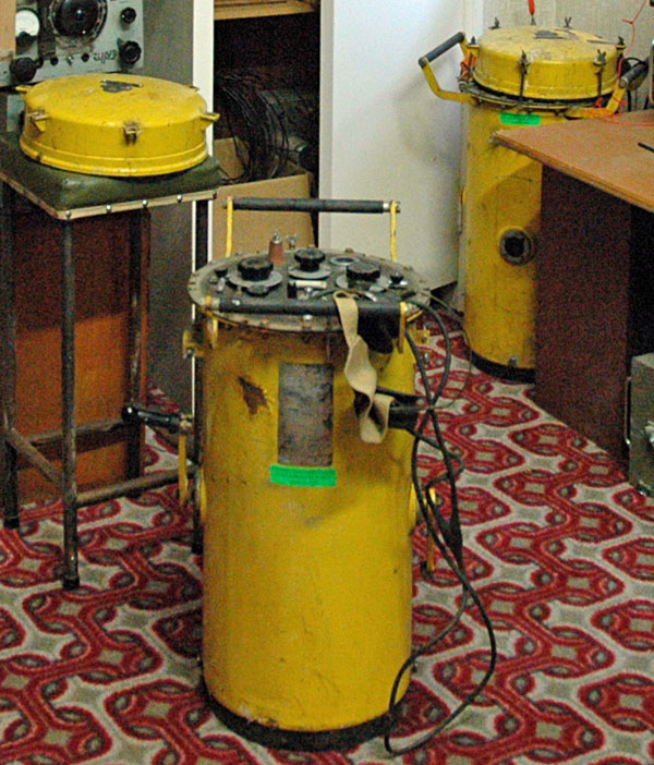 Two automatic SOS transmitters