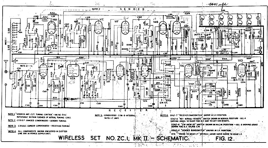 Schematic diagram for New Zealand ZC1 Mk II transceiver
