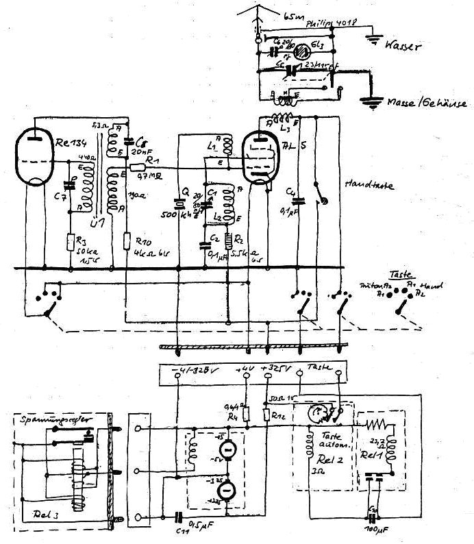 Circuit of Gibson Girl emergency transmitter