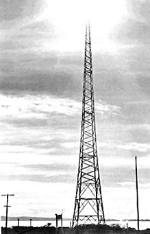 One of the Oliver Rd transmitter towers, date unknown.