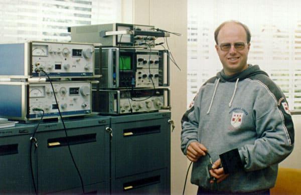 Auckland Radio ZLD technician Paul Tolenaars