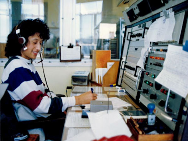 Auckland Radio ZLD operator Cilla Hardy