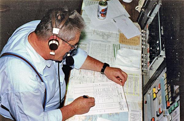 Auckland Radio ZLD supervisor Chuck McLeod