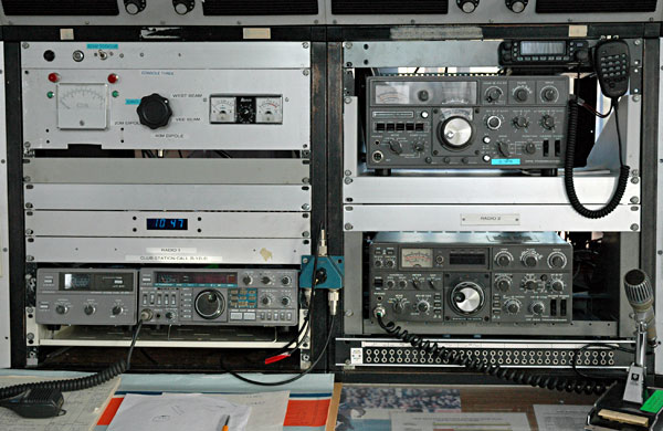 Old Kenwood transceivers in the West Operating Room at ZL1ZLD