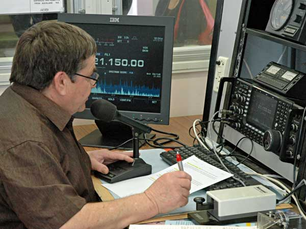 Rick Taylor ZL1WOT operating 15m SSB.