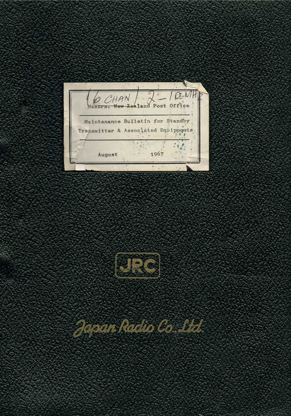 Maintenance manual for JRC NSD-166 transmitter