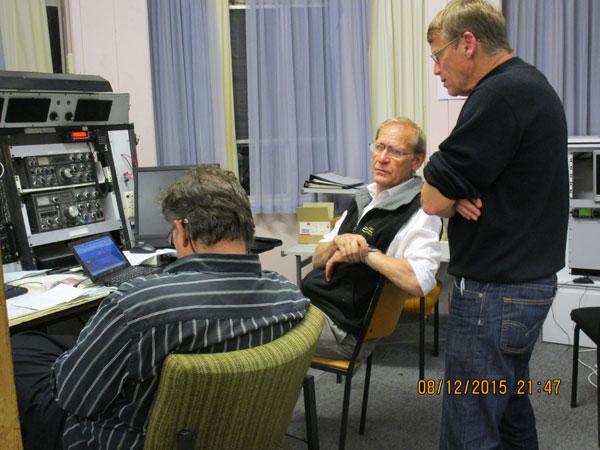 The H Night team at ZLD (L-R): Maurice ZL1MPU, Ross ZL1DRB and Martyn ZL3CK