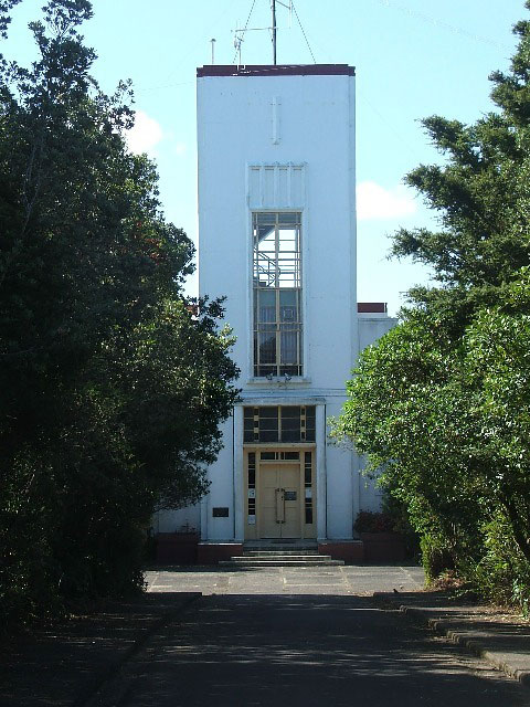 Musick Memorial Radio Station from the south