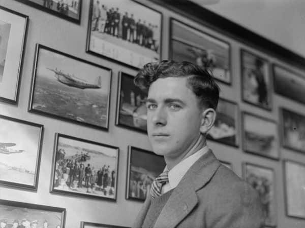 Doug Morris at Musick Memorial Radio Station in 1945