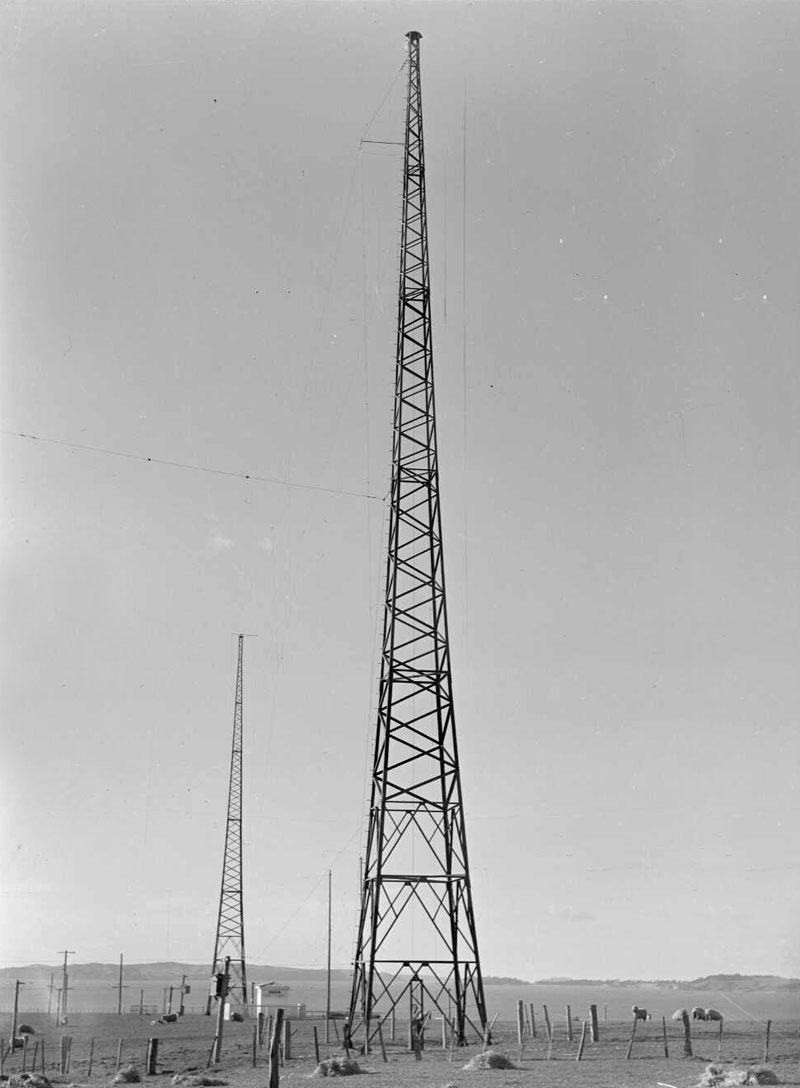 Transmission masts at Auckland Radio