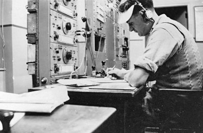 Nobby Clark, operator at Auckland Radio ZLD, 1946