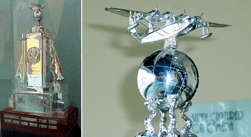 Two views of the Musick Memorial Trophy