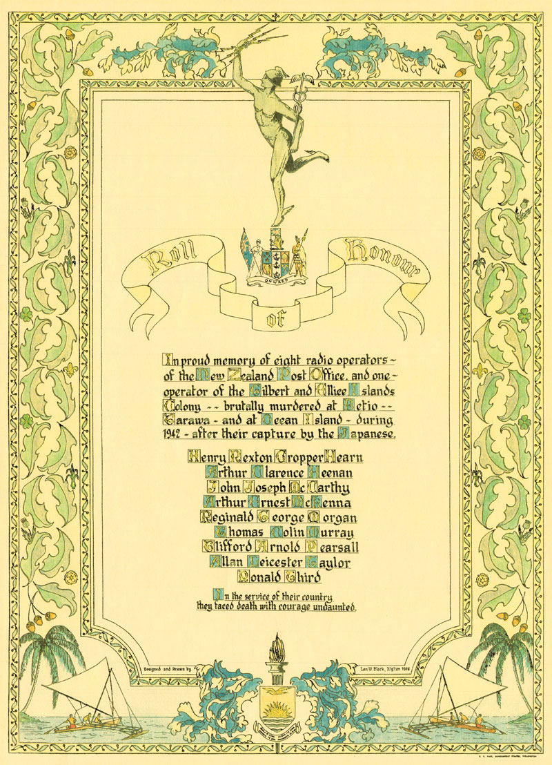 The Coast Watchers Roll of Honour