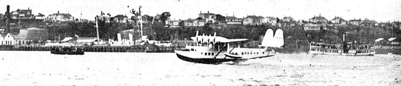 Pan Am Clipper landing in Auckland, March 1937