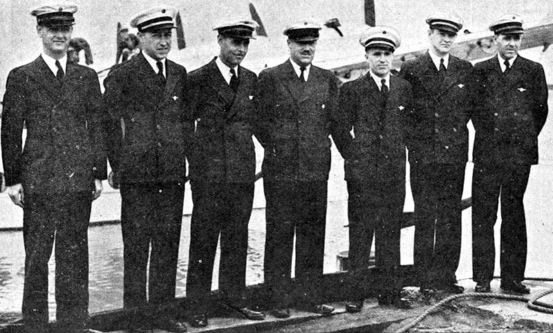 Crew of the flying boat Pan American Clipper