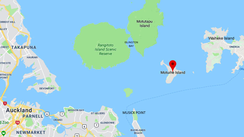 map of Hauraki Gulf