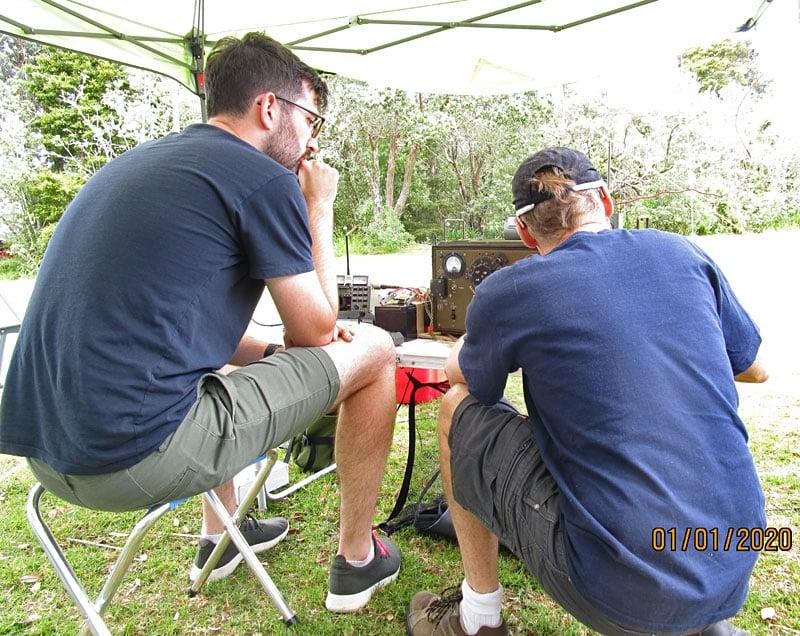 Ethan ZL1EK and Martyn ZL3CK with ZC1 Mk2