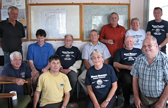 Group photo for 500kHz CW at Musick Point Radio