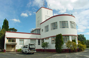 Musick Point Radio building