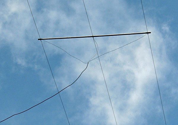 Centre of the Marconi T antenna