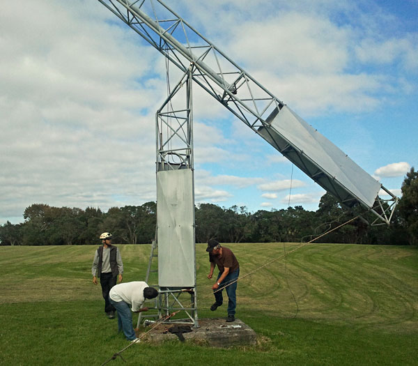 Tilting the West Tower at Musick Point Radio