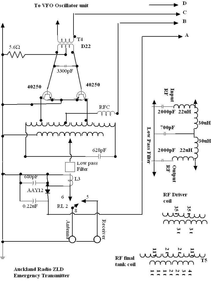500 kcs transmitter rf unit