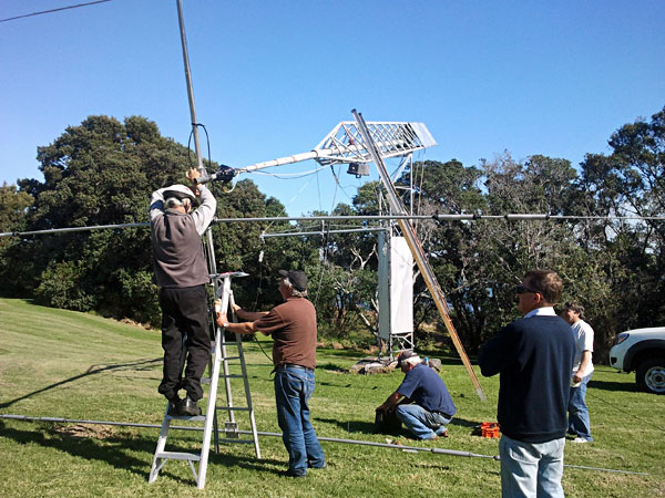 Aligning the new rotator on the West Tower at Musick Point Radio ZL1ZLD
