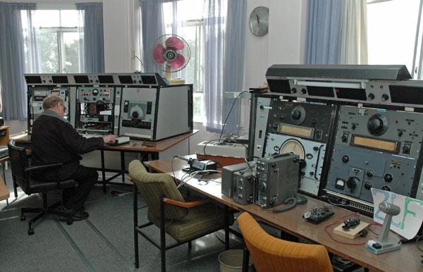 Vintage radio room at Musick Memorial Radio Station