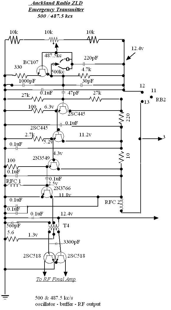 Auckland Radio ZLD 500 kcs emergency oscillator