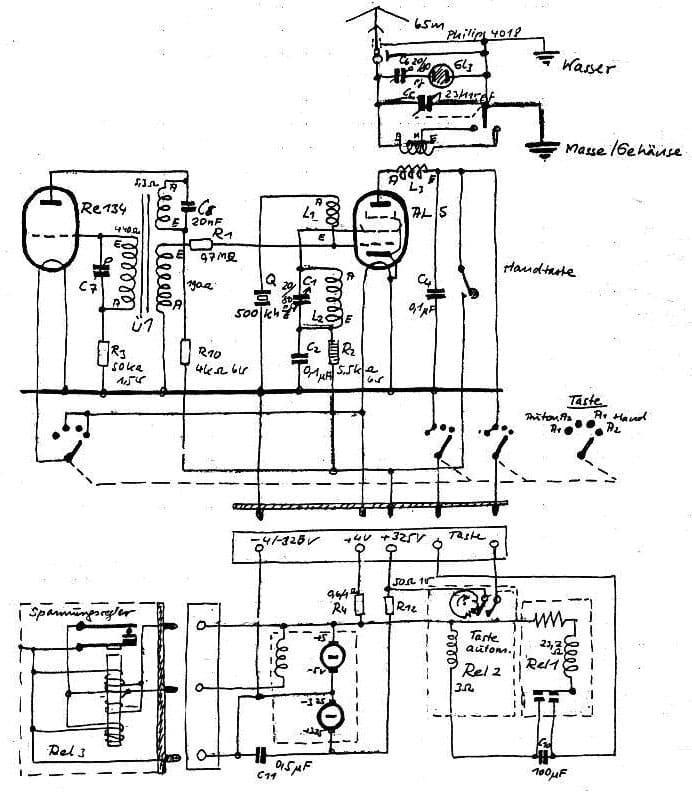Circuit of Gibson Girl emergency transmitter