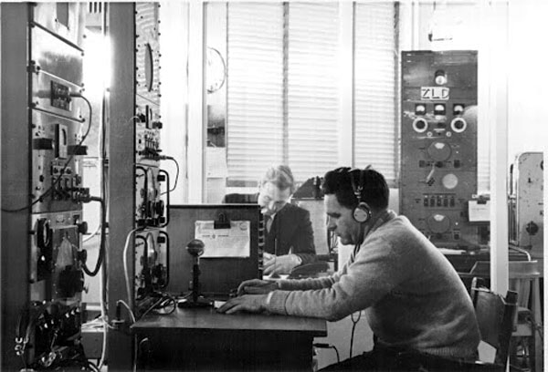 Auckland Radio ZLD staff Bernie McMahn and Norm Ashwell