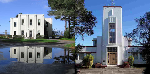 San Francisco Radio KPH (left) and Auckland Radio ZLD