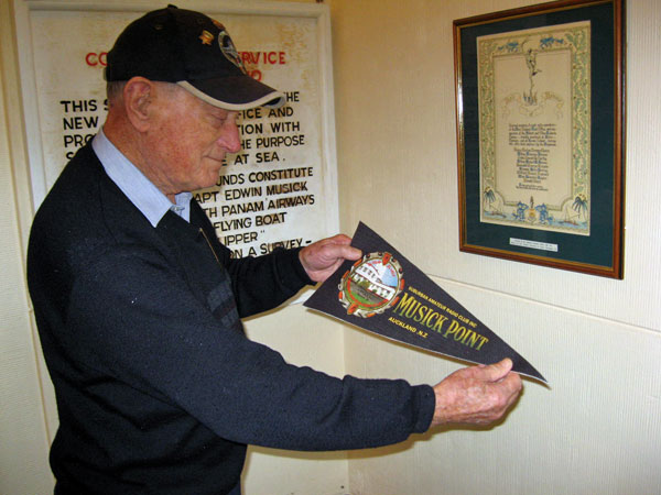 Former coastwatcher John Jones visiting Musick Memorial Radio Station in 2010