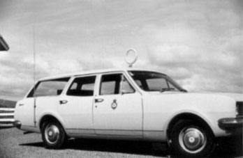 A Radio Inspector's car fitted with DF equipment
