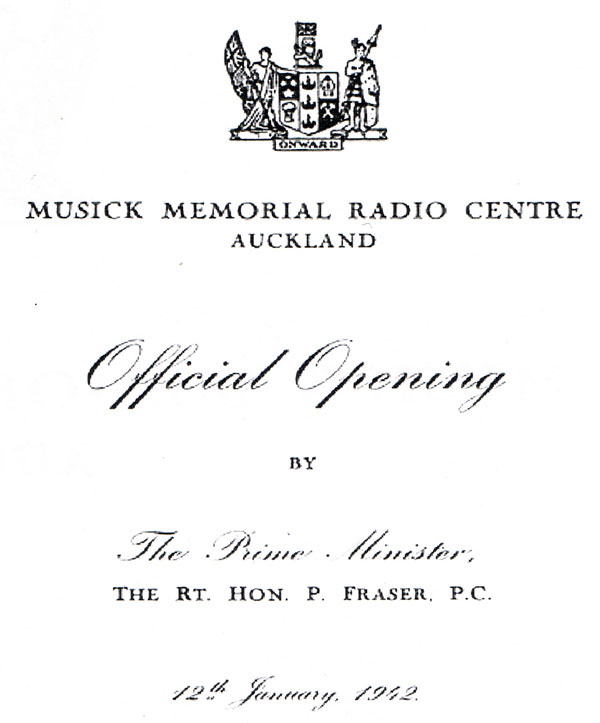 Invitation to official opening, p 1