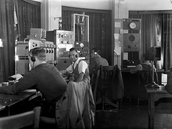 Operators (L to R): LJ Young, N [Masters?] and E Ritchie, 29 August 1946.