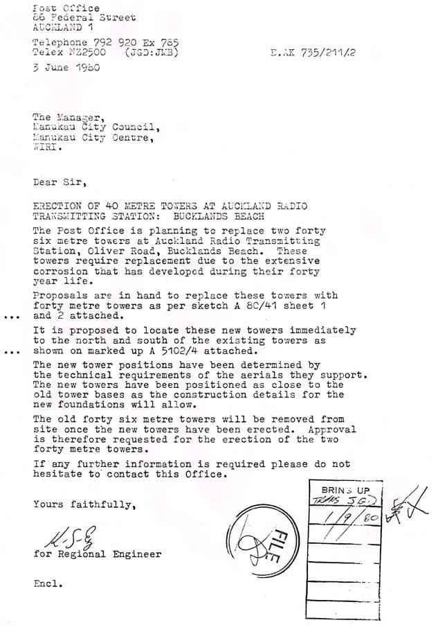 letter from regional engineer