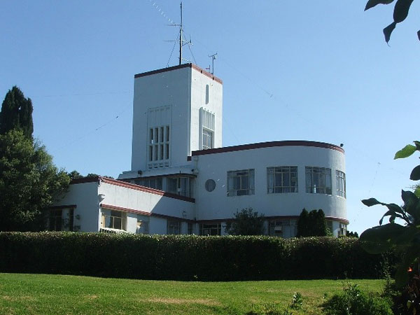 Musick Memorial Radio Station from the northeast