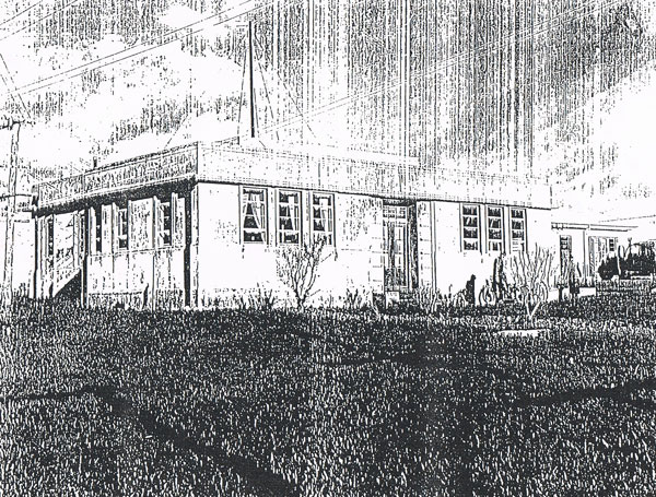 Auckland Radio transmitter building in Oliver Road