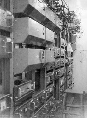 Inside transmitter building on Mt Eden, Auckland
