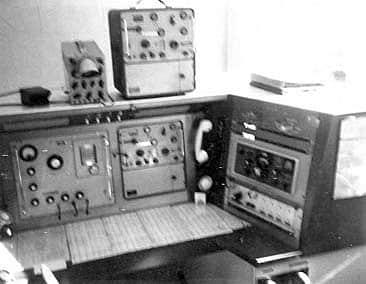 Test room at Mt Eden radio site, Auckland