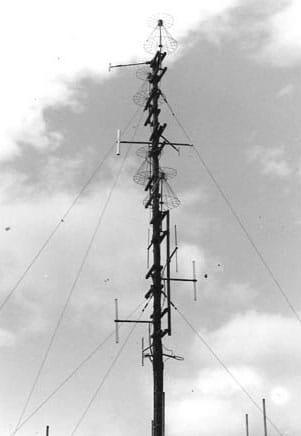 Radio mast on Mt Eden, Auckland