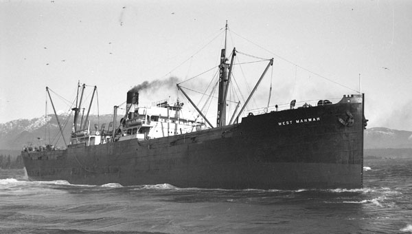 SS West Mawhah in Vancouver, 1935