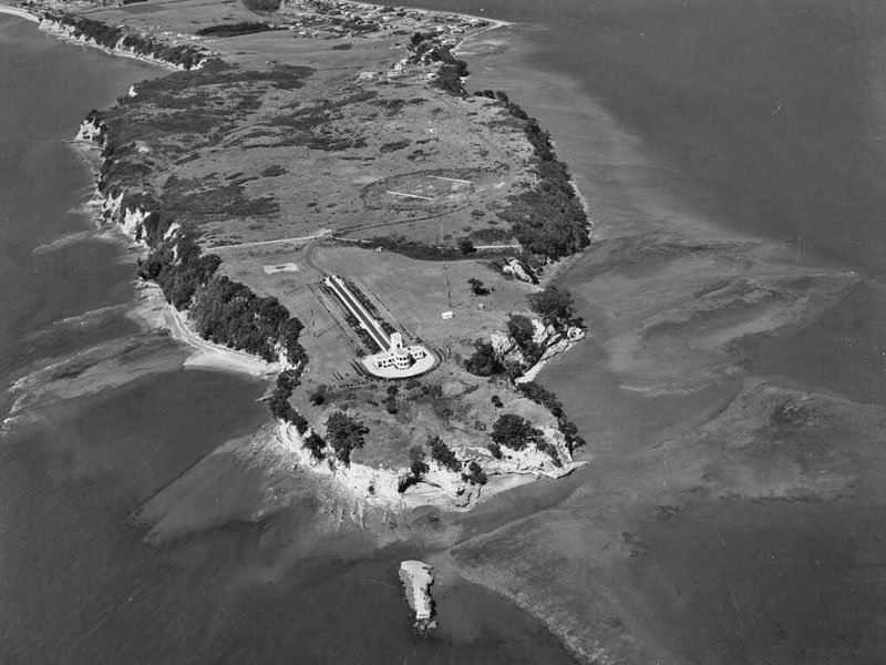 Aerial view of Musick Point in March 1946